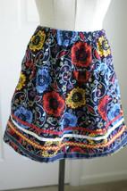 Hanna Andersson Skirt Corduroy Floral Cotton Elastic Waist Size 150 US 12 - £19.11 GBP
