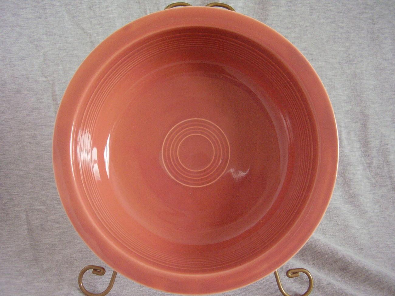 Vintage Fiestaware Rose Nappy Serving Bowl Fiesta