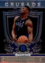 Zion Williamson 2019-20 Panini Prizm Draft Picks Crusade Rookie Card #51 - $6.00