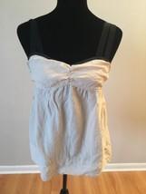 Sanctuary Clothing Women's Top Beige Black Silk Spaghetti Strap Baby dol... - €17,80 EUR