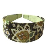 Wide Brown Olive Flower Headband  Handmade     ... - $12.99