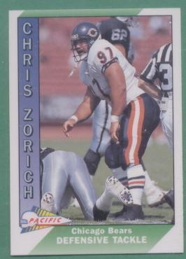1991 Pacific Chicago Bears Football Team Set