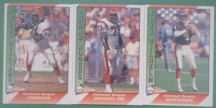 1991 Pacific Cincinnati Bengals Football Team Set