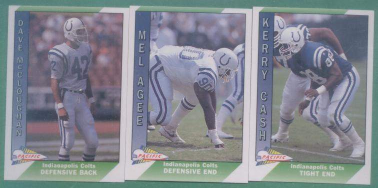 1991 Pacific Indianapolis Colts Football Team Set