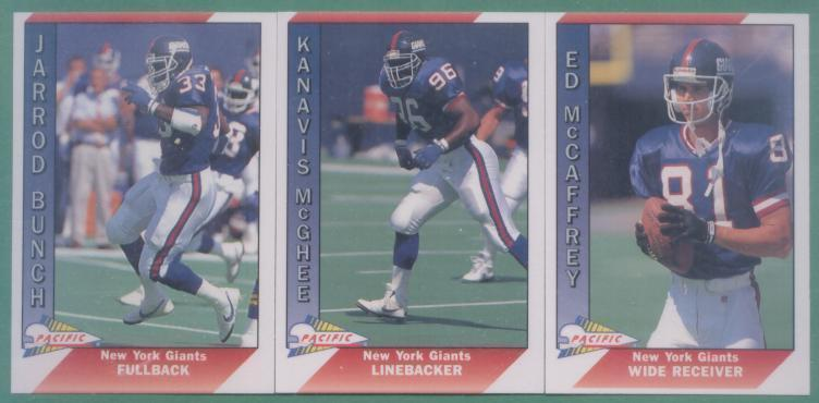 1991 Pacific New York Giants Football Team Set
