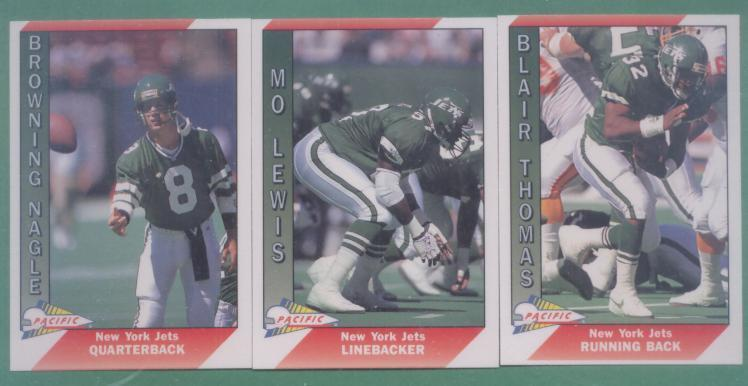 1991 Pacific New York Jets Football Team Set