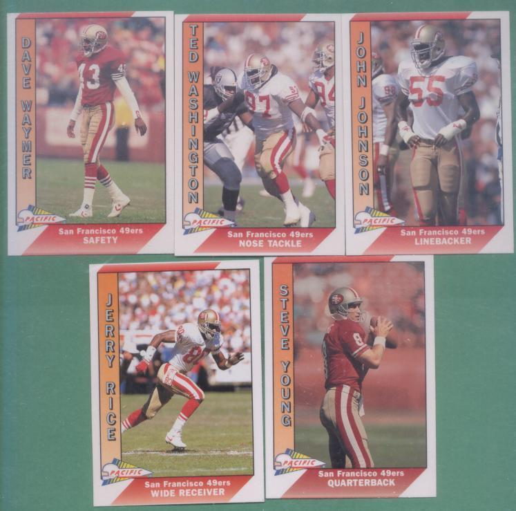 1991 Pacific San Francisco 49ers Football Team Set