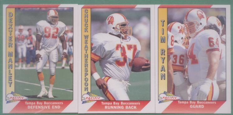 1991 Pacific Tampa Bay Buccaneers Football Team Set