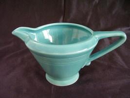 Vintage Homer Laughlin Harlequin Turquoise Creamer A - $19.44