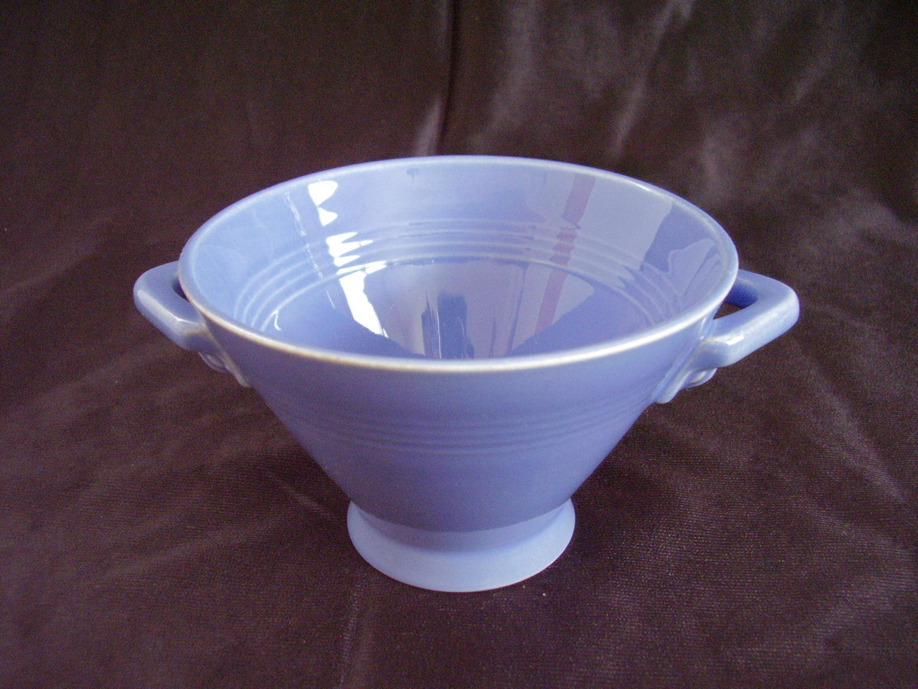Primary image for Vintage Homer Laughlin Harlequin Mauve Blue Sugar Bowl