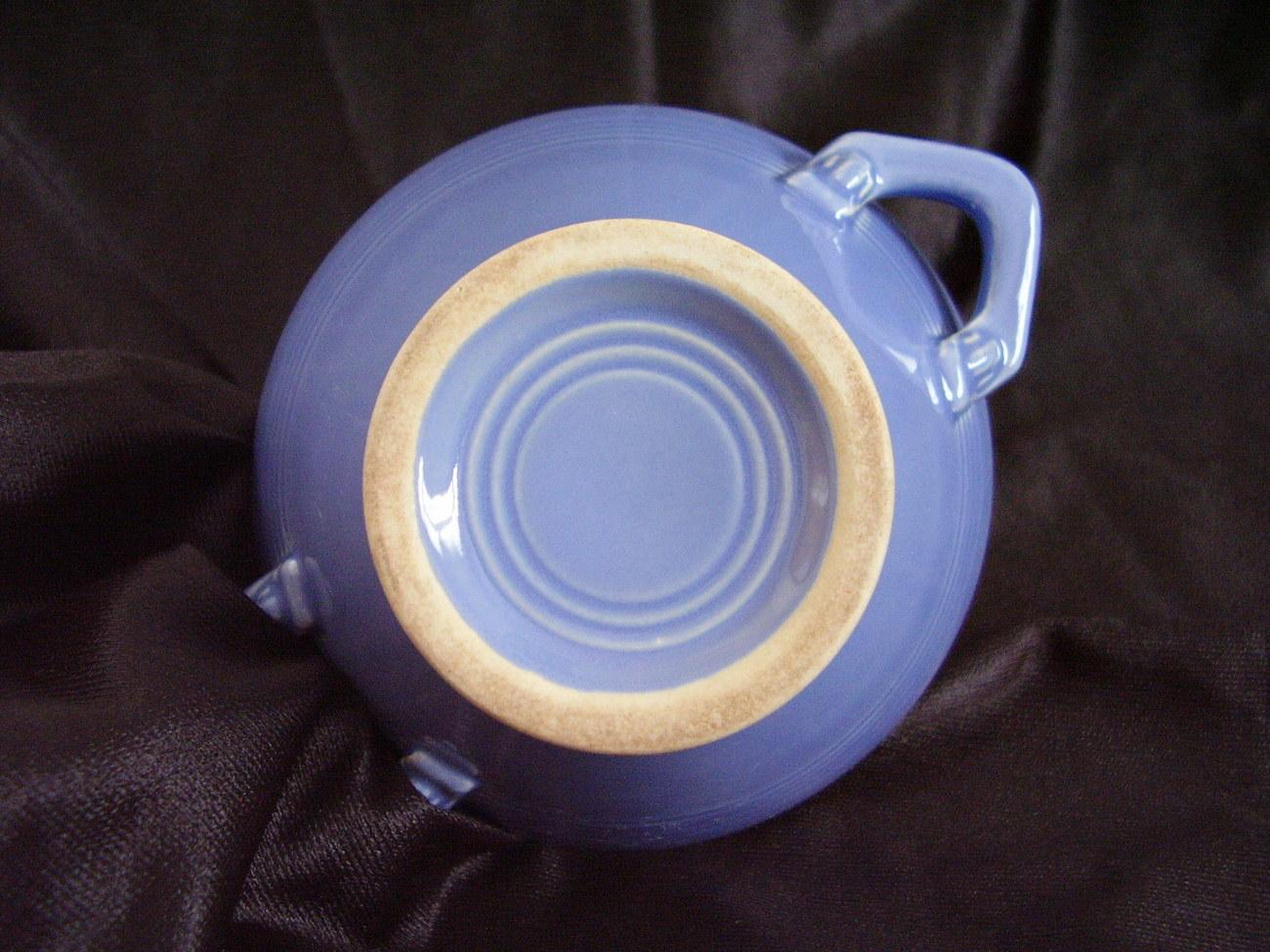 Vintage Homer Laughlin Harlequin Mauve Blue Sugar Bowl
