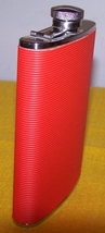 Liquer Flask Container Red Like New image 1
