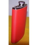 Liquer Flask Container Red Like New - $15.00