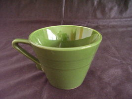 Vintage Homer Laughlin Harlequin Forest Green Coffee Teacup - $30.96