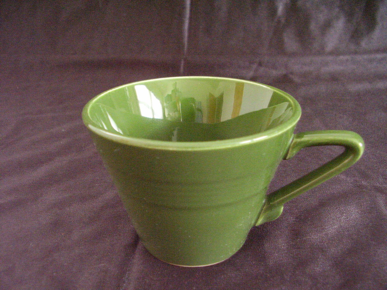 Vintage Homer Laughlin Harlequin Forest Green Coffee Teacup