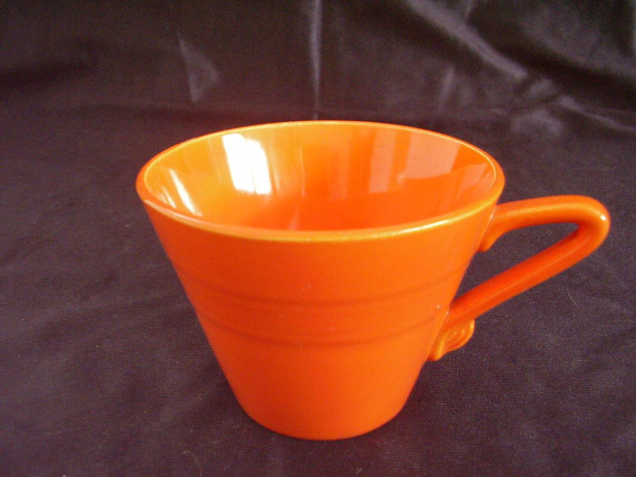 Vintage Homer Laughlin Harlequin Red Teacup