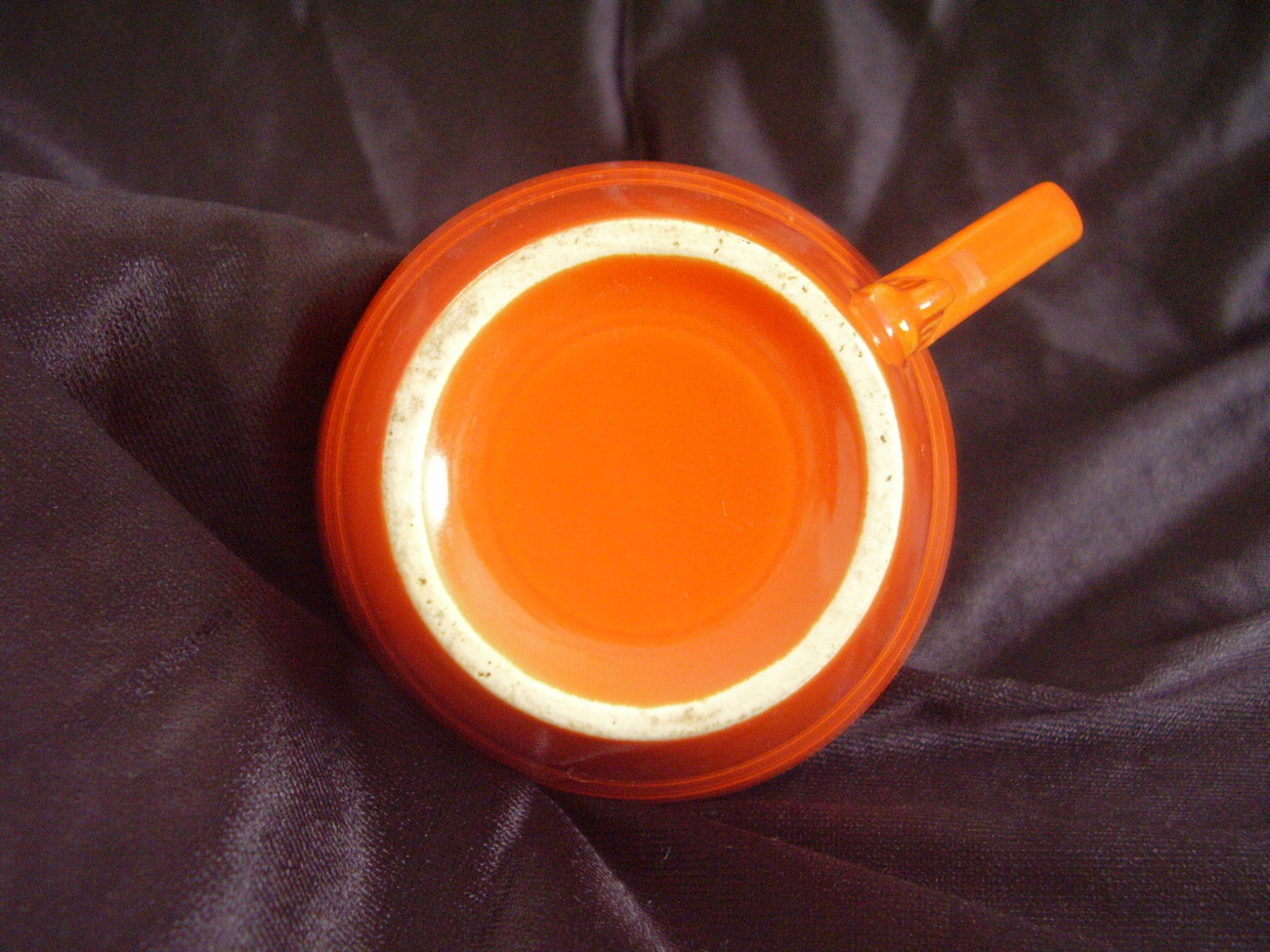 Vintage Homer Laughlin Harlequin Red Teacup