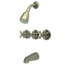 New Kingston Brass KB238AX Tub & Shower Faucet, Brushed Nickel Victorian Collect - $97.02