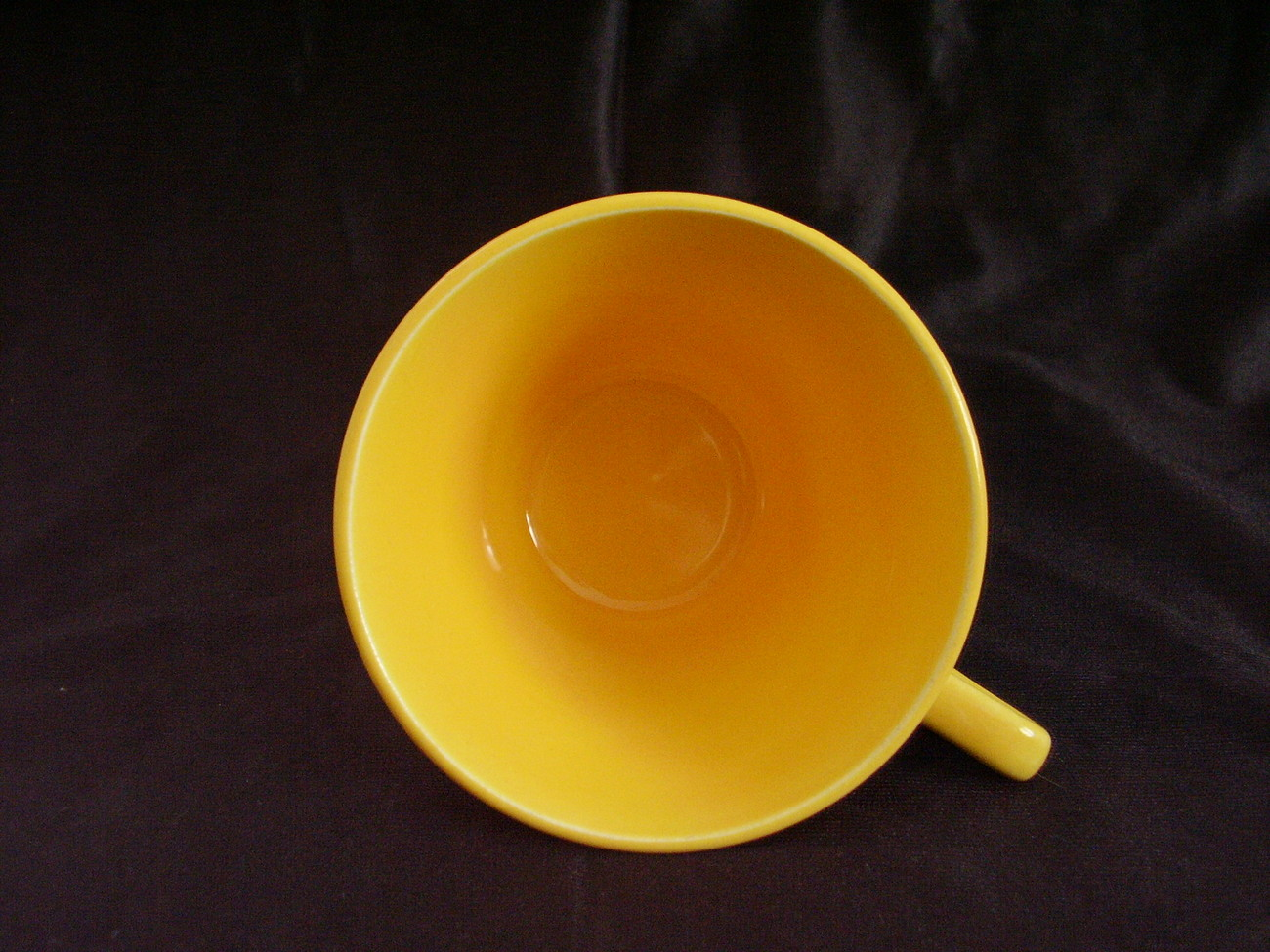Vintage Homer Laughlin Harlequin Yellow Teacup  C