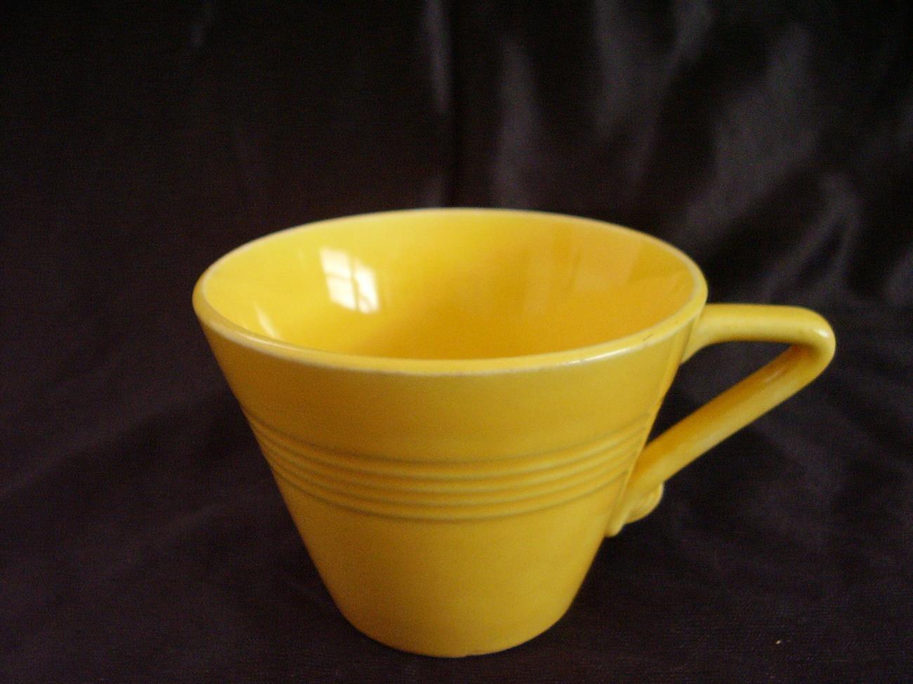 Vintage Homer Laughlin Harlequin Yellow Teacup  B