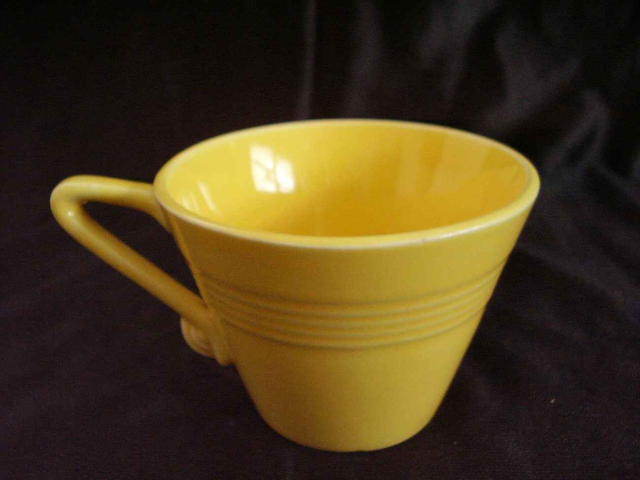 Vintage Homer Laughlin Harlequin Yellow Teacup  A