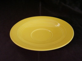 Vintage Homer Laughlin Harlequin Yellow Teacup Saucer A - $9.36