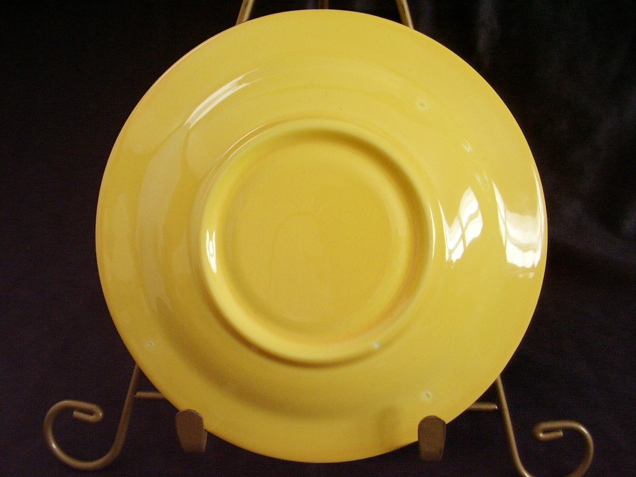 Vintage Homer Laughlin Harlequin Yellow Teacup Saucer A
