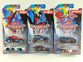Hot Wheels Spider-man Into The Spider-Verse Set of 6 - $29.69