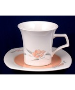Nikko Peach Glow Cup & Saucer Quadrille China Japan - $8.00