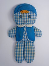 "FISHER PRICE 419 CHOLLY RATTLE DOLL BLUE GINGHAM 12"" 1977 - $88.00"