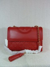 NWT Tory Burch Red Volcano Leather Fleming Convertible Bag - $473.22