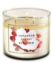 Bath & Body Works Japanese Cherry Blossom Three Wick.14.5 Ounces Scented... - $22.49
