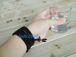 Free Shipping - 7 mm 100% natural black sandalwood meditation yoga 216 Beads Pra - $19.99