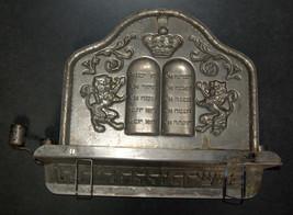 Judaica Hanukkah Menorah Lions Torah Crown Israel Metal Vintage 1960's Wall Hang image 9