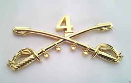 4TH Cavalry Insignia Swords Military Veteran Us Army Hat Pin 16085 (Large) Ho Lp - $5.94