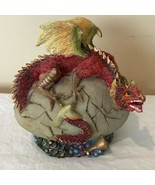 """Red Dragon Statue with Egg Collectible Figurine Resin 5.25"""" High - $19.99"""