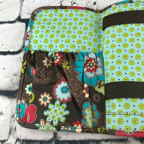 Thirty-One Floral Folding Cosmetic Organizer Make-Up Travel Case image 5