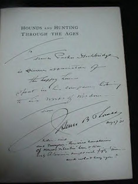 Rare 1929 Hounds & Hunting Through The Ages Book Thomas
