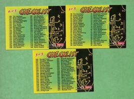 1994 Stadium Club  Football Checklists  - $1.00