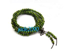 Free Shipping - 6 mm Tibetan Buddhism  Natural green sandalwood meditation yoga  - $19.99