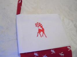 Christmas Stocking Embroidered Deer Christmas Stocking - $11.57