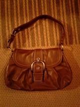 Coach - gorgeous multi-pocket, thick leather Buckle Hobo shoulder Handba... - $27.85