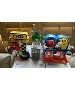3 M&M's Candy Dispensers NASCAR Racing, Roller Coaster Ride,  Statue Lib... - $391.05
