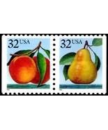 1991 32c Peach & Pear Attached Pair Scott 2487-88  Mint F/VF NH - £1.90 GBP