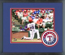 Adrian Beltre 2015 Texas Rangers -11x14 Team Logo Matted/Framed Photo - $43.95