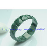 Grade AAA Natural Green Jadeite Jade beads charm beaded jade bracelet - $60.00