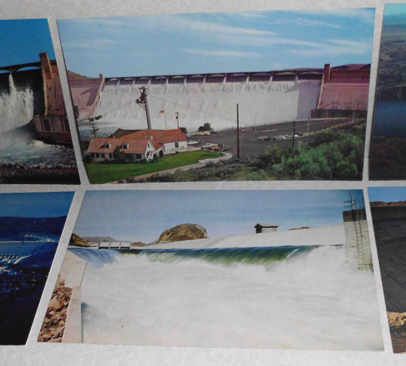 Lot of 6 Vintage Grand Coulee Dam Washington Postcards