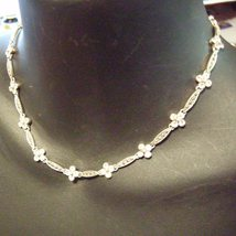 Sterling Silver Necklace White Topaz - $59.00