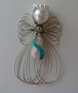 Cervical Cancer Awareness Angel Ornament Handmade - $8.00