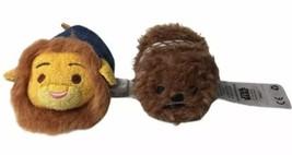 "Mixed Plush Lot Disney Mufasa Tsum Tsum Lion King 3"" & Star Wars Chewbac... - $23.71"